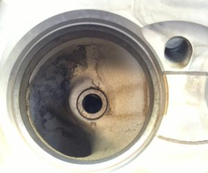 combustion chamber after